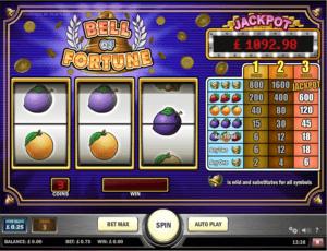 bell of fortune 3 reel slot online slots
